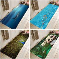 Мультяшная панда, Акула, морская рыба, павлин, кошка, коврик для кухонной и входной двери, противоскользящий пол, коврик для ванной комнаты, п...
