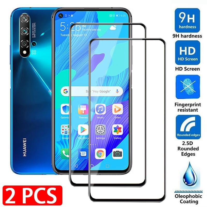 2 шт., защитное стекло на весь экран для Huawei Nova 5 t 5z 5i pro