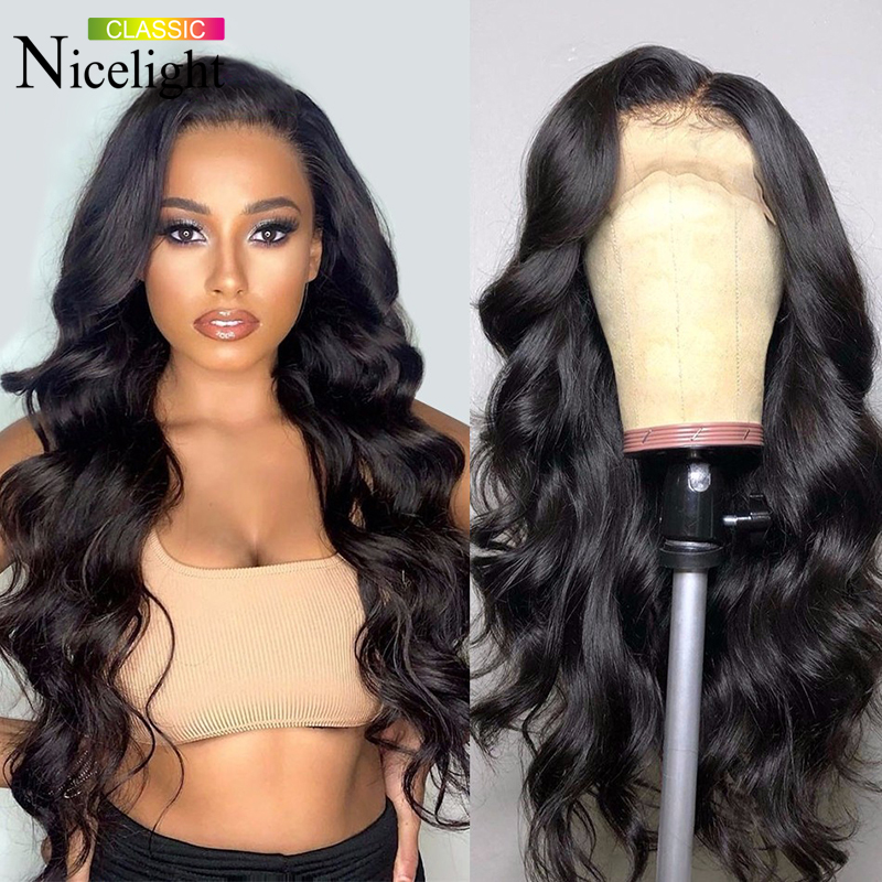 Nicelight Hair Body Wave Wig 4x4 Lace Closure Wigs 10-26 Inch Lace Wig Mayasian Human Hair Wig Natural Hairline Remy Hair Wig