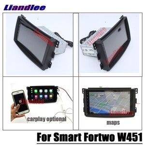 Image 2 - נגן מולטימדיה לרכב אנדרואיד עבור החכם Fortwo W451 2007 ~ 2014 רדיו סטריאו אביזרי וידאו Carplay מפת GPS ניווט לא DVD