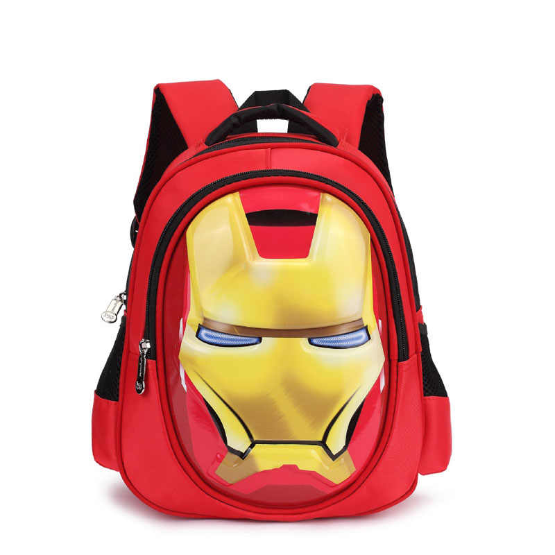 3D iron Man Student bag Boy Girl Schoolbag Teenagers High-capacity Cartoon backpack Child waterproof Travel Backpack