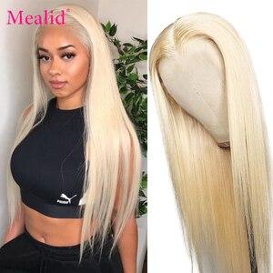Glueless 613 светлый парик фронта шнурка Remy бразильские прямые волосы фронта шнурка человеческие волосы 13x4 предварительно отобранные с волосами...