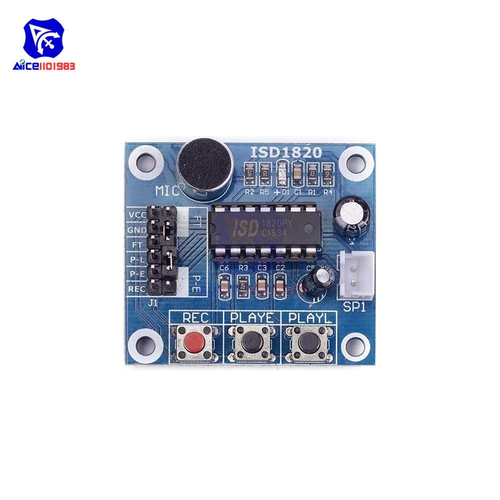 2PCS ISD1820 Sound Voice Recording Playback Module+Mic Sound Audio microphone