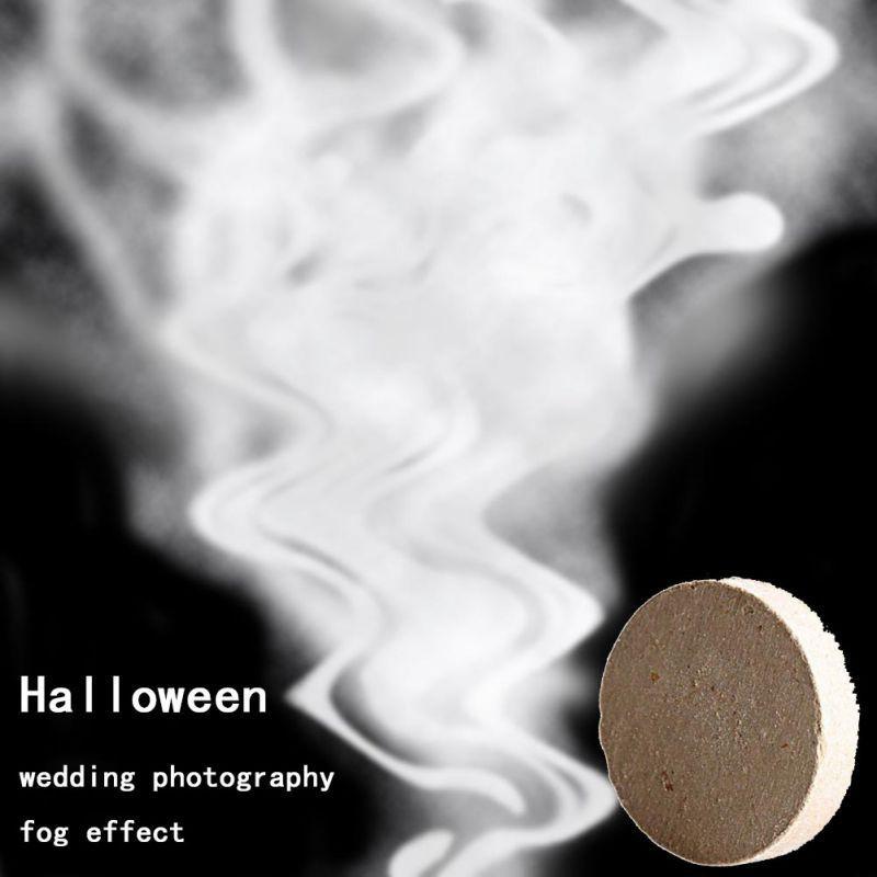10pcs! Smoke Cake white Smoke Effect Show Round Bomb Stage Photography Aid Toy Gifts Magic Light Fog Pills Halloween Props spray(China)
