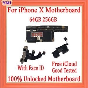 Image 2 - Usine déverrouillée pour iphone X carte mère avec sans identification de visage, gratuit iCloud pour iphone x carte mère avec carte mère système IOS