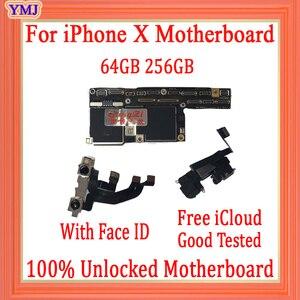 Image 2 - מפעל נעול עבור iphone X האם עם ללא פנים מזהה, משלוח iCloud עבור iphone x Mainboard עם IOS מערכת היגיון לוח