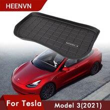 Heenv n – tapis de coffre avant de voiture, pour Tesla modèle 3 2021, tapis TPE, tampons de rangement, plateau de chargement portable étanche