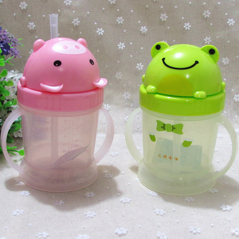 Chick Cady 240Ml Baby Cup Children Cartoon Ribbon Glass Baby Training Glass Kd3309