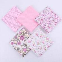 Детский хлопковый розовый платок ручной работы с цветочным принтом, 5 шт., женский шарф с принтом, детский хлопковый платок#35