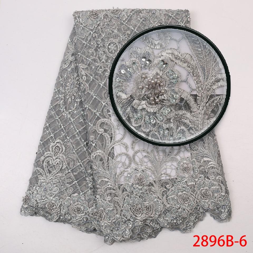 mão tecidos de renda cinza prata africano