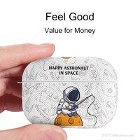 AirPods Fall für AirPods Pro oder AirPods1/2 Silikon Leder Muster Abdeckung/Hängen Stern Astronaut Cartoon Nette Kühle shell