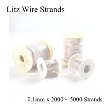 0.1 Mm 2000 2200 2500 3000 3500 4000 5000 Strand Litz Untai Kawat Kristal Mikro Antena Perak Headphone Earphone Kabel DIY 0.1(China)