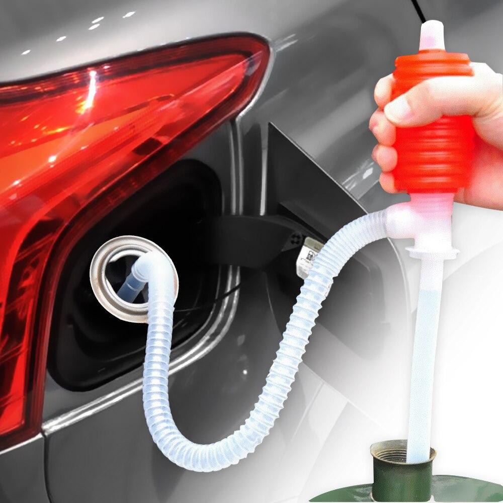 Leepee manual sifão sucção água química bomba de líquido portátil caminhão do carro óleo combustível gasolina transferência diesel otário mão bomba