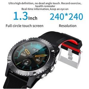 Image 4 - 2020 sport inteligentny zegarek mężczyźni muzyka Bluetooth informacje Push pomiar ciśnienia tętna wysokość połączeń przypomnienie Smartwatch