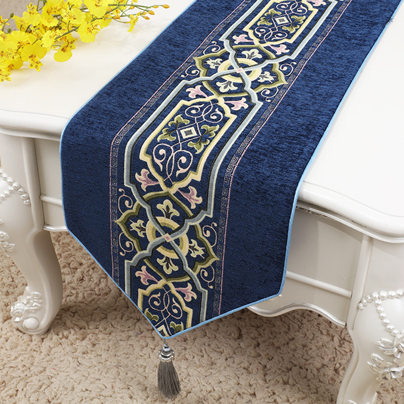 Proud Rose Chinese Chenille Table Flag Tablecloth Placemat High Grade Table Runner Porch TV Cabinet Cover Cloth Bed Flag