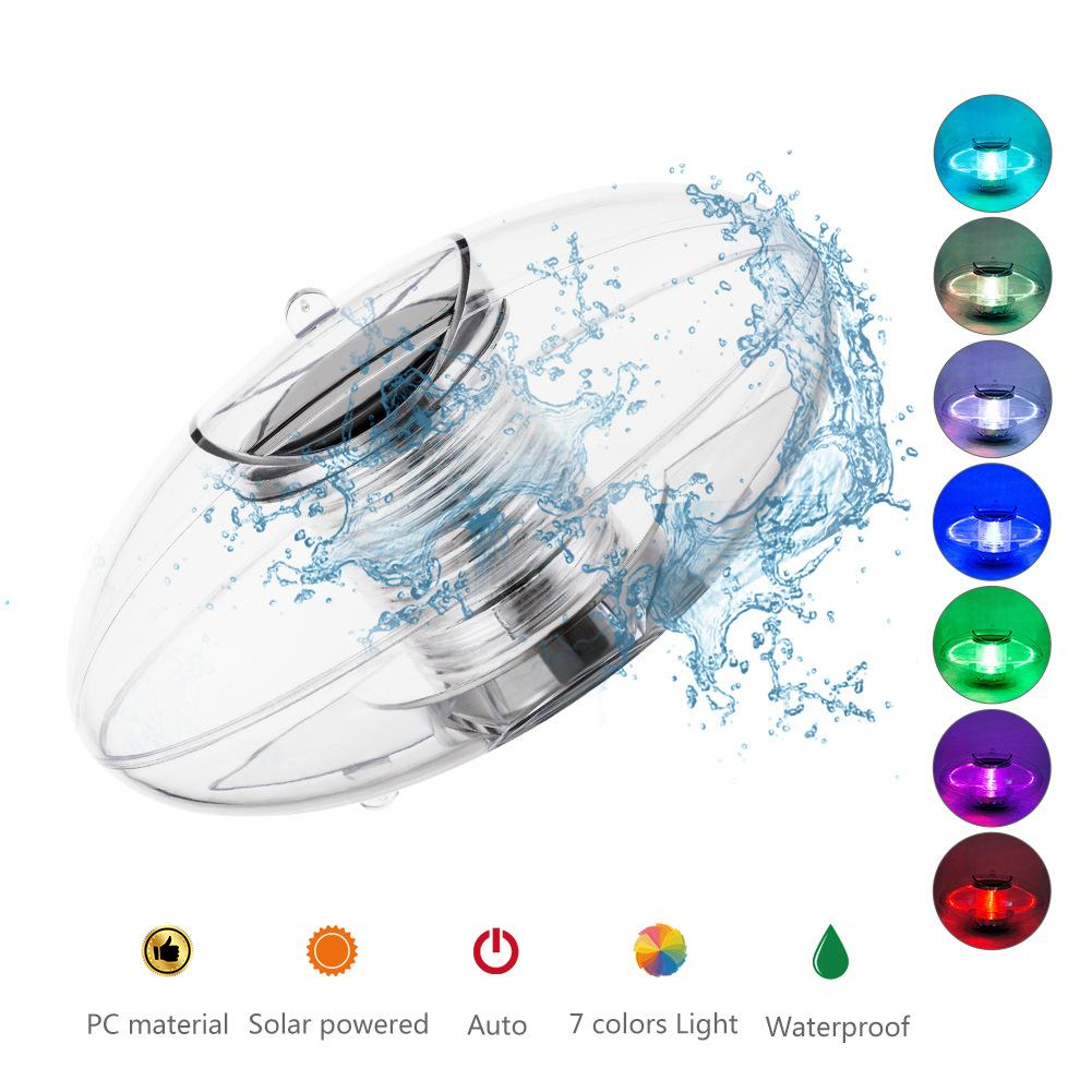 Solar Floating Lamp Outdoor Fountain Pool Decorative Light Colorful Waterproof Ball Lamps