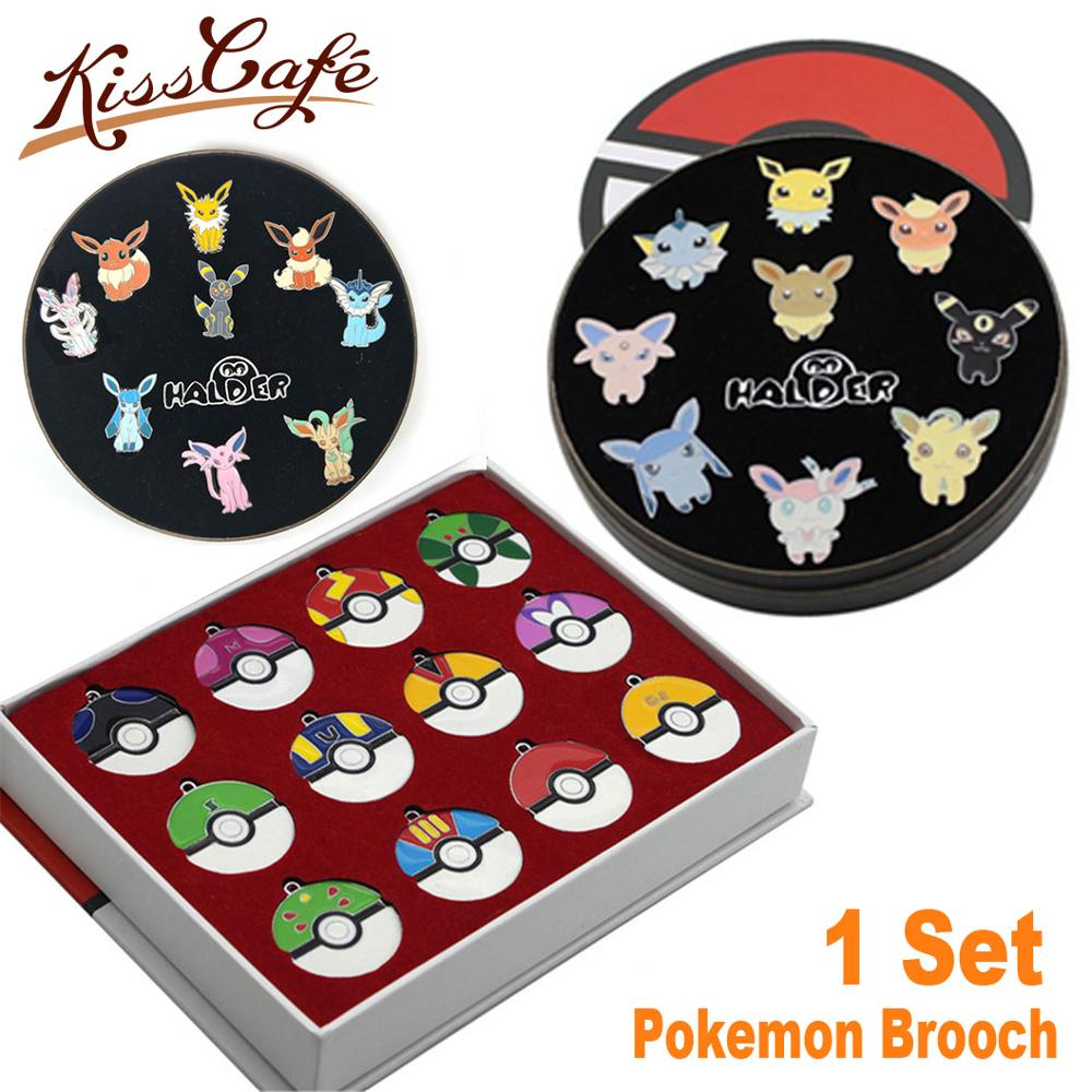 Pokemon Eevee Family Oil Brooch Cartoon Cute Enamel Pins Couple Brooches Boutonniere Clothes Badge Gift Decoration Accessories