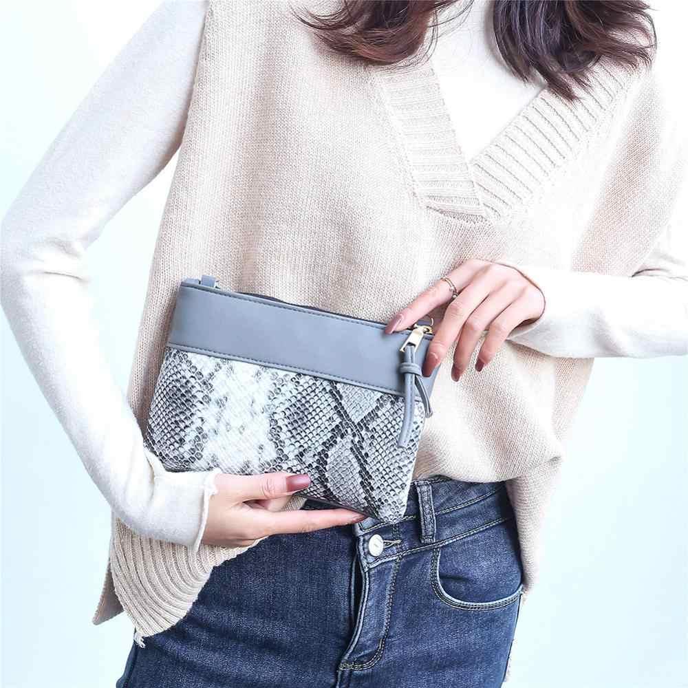 Frauen Schulter Tasche Mode Snake Print Crossbody Handtasche Frauen PU Leder Spleißen Kleine Geldbörse Retro Damen Schulter Taschen