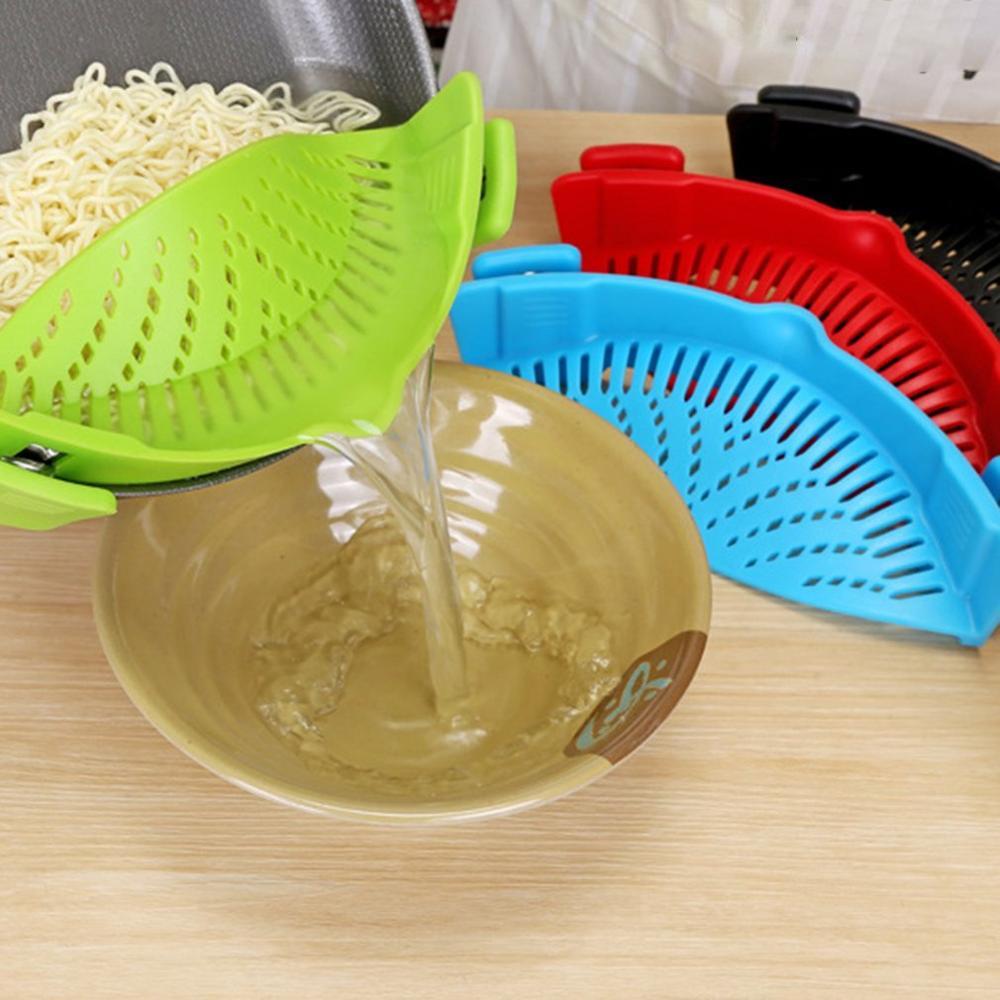 A2610 égouttoir de cuisine en Silicone Pot côté légumes versant égouttoir à légumes filtre domestique eau nouilles égouttoir étanche