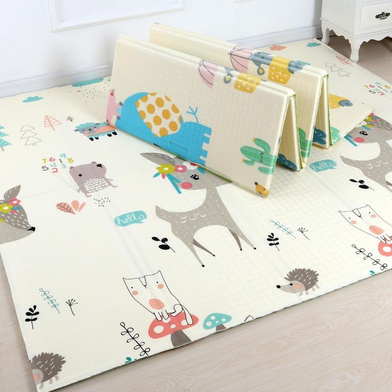 New Design 200*180cm*1 Cm Foldable Cartoon Baby Play Mat Xpe Puzzle Children's Mat Baby Climbing Pad Kids Rug Baby Games Mats