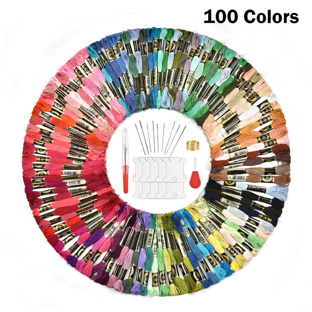 100 Colors Embroidery Thread Cross Stitch Handmade DIY Craft Gift Accessories|Floss|   - AliExpress