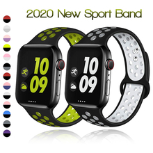 Soft Silicone Band for Apple Watch Series 1 2 3 42mm 38mm Rubber Strap for iWatch 4/5/6/SE 40MMM 44MM