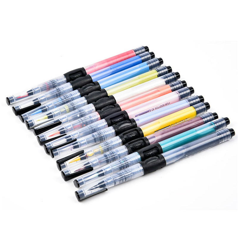 Arte cerámico de 12 Colores underglaze color blanco embryo push pen para presionar hacia fuera pigmento cerámica pintura herramientas de pintura - 3