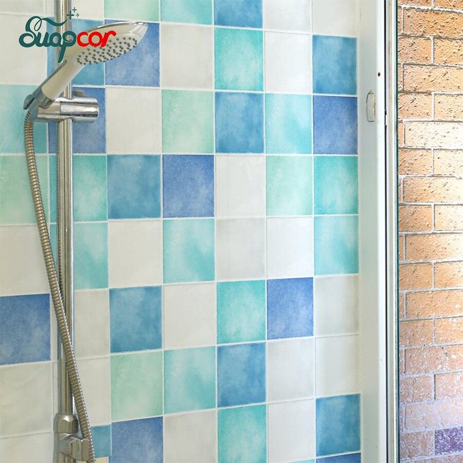 Самоклеящиеся обои для ванной комнаты, настенные наклейки для обновления кухни, унитазы, водонепроницаемая плитка, наклейки туалет, влагос...