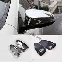 For Toyota Venza Auris 2013 2014 2015 2016 2017 ABS Chrome  Door rearview mirror cover Trim Auto Accessories Stickers 2pcsFor To