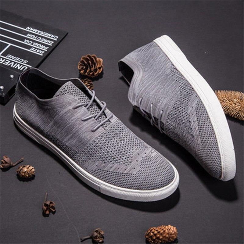 Flyweaver обувь мужская Британский стиль дышащий повседневная обувь с трендовой сетчатой панелью обувь - 5