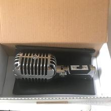 De Metal de plata 55SH II cardioide Dyna mi c mi crophone Vocal clásico Vintage estilo Karaoke mi crophone para Shure 55SH serie mi