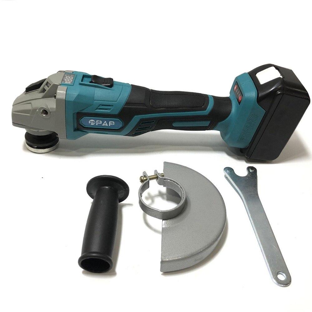 125mm Bürstenlosen Cordless Auswirkungen Winkel Grinder 18V 4000mAh POLIERER Elektrische Präzision Schneiden Schleifen Maschine Power Tools