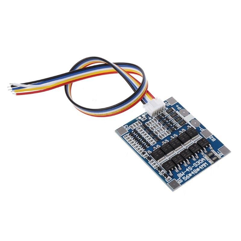 4S 30A 12.8V W/Balance 3.2V LiFePo4 LiFe 18650 Battery BMS Protection PCB Board