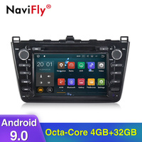 NaviFly Android 9.0 Octa core 4G RAM 64G ROM Car Multimedia player car accessories for Mazda 6 Ruiyi Ultra 2008 2009 2010 2011