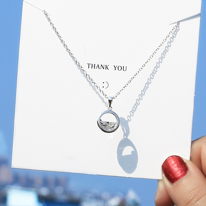 Hipster Online Celebrity Simple Elegant Literature And Art MORI Series Cool A Wang Clear Spring Choker Women's Pendant Necklace