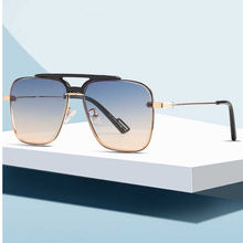2020 moda luxo vintage quadrado estilo piloto rebitações de sol matiz gradiente design de marcas de sol uv400