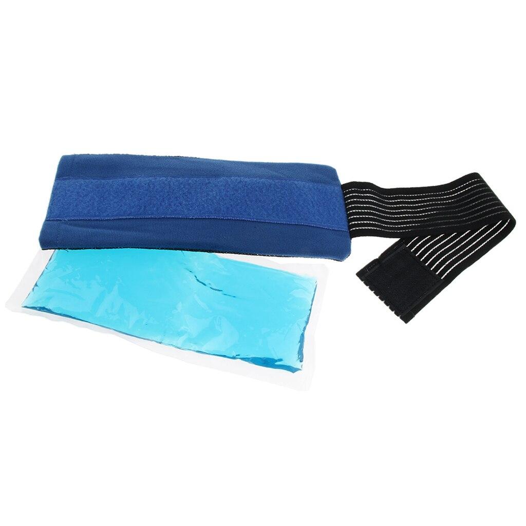 Yeniden kullanılabilir jel buz paketi, sıcak soğuk ped için kayış ile migren rahatlama, baş ağrısı, dirsek, ayak bileği, diz ağrısı ve spor yaralanmaları