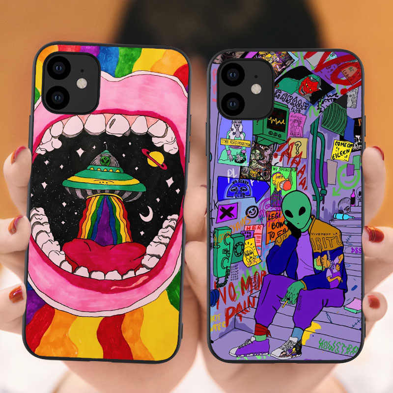 Among Us Game Phone Case For iPhone 11 12 Pro X XS Max XR 6 6S 7 8 Plus SE 2020 12Mini 12Pro 11Pro Silicone Black Cover