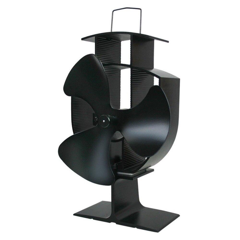 Hot Sale 3 Blades Heat Powered Stove Fan Home Silent Heat Powered Stove Fan Ultra Quiet Wood Stove Fan Fireplace Fan