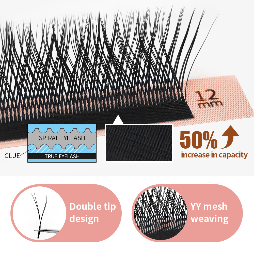 Wholesale YY LASH Y shape eyelash extensions 0.07 Easy fanning Premade Volume lash Flase lashes Faux mink 12 rows mesh makeup(China)