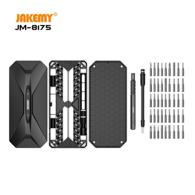 JAKEMY ใหม่ล่าสุดรุ่น JM 8175 แบบพกพา Precision ไขควงชุด Antirust S2 เหล็ก Bits ชุดเครื่องมือ DIY สำหรับโทรศัพท์มือถือ PC