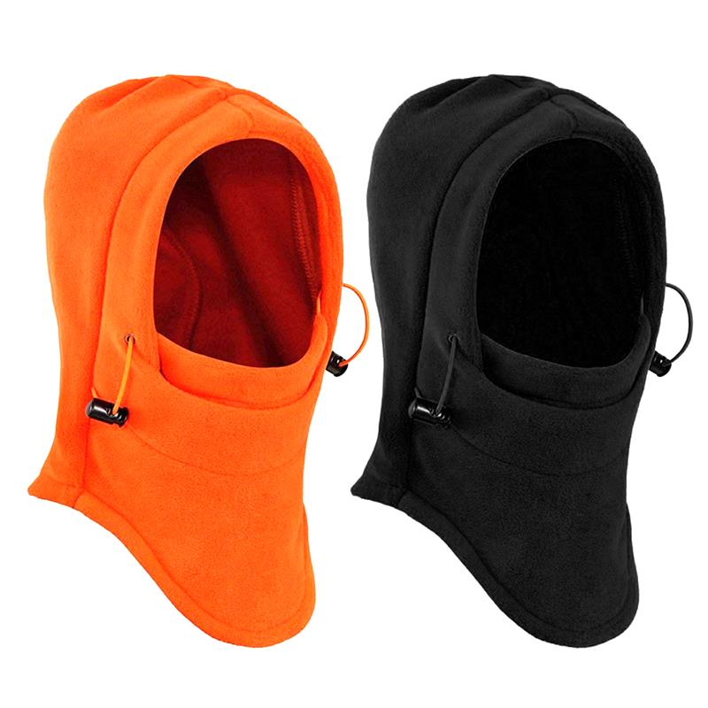 Windproof Face Mask Thick Ski Hat 2Pcs Winter Caps Fleece Headgear for Outdoor Sports Thermal Hood|Cycling Face Mask| |  -