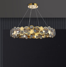 Postmodern Luxury LED Chandelier For Living Dining Room Bedroom Simple Fixtures Restaurant Clothing Store New Glass Hanging Lamp