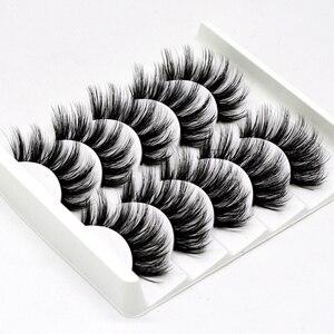 5 pairs of 3D false eyelashes handmade soft mink eyelashes natural thick long eyelashes makeup extension eyelash tool(China)