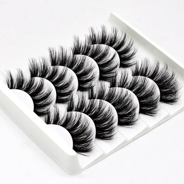 5 pairs of 3D false eyelashes handmade soft mink eyelashes natural thick long eyelashes makeup extension eyelash tool