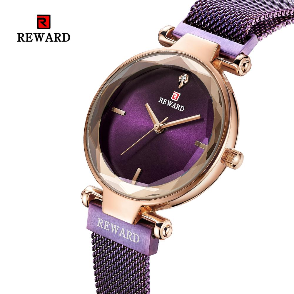 Reward female watch flower glass mesh belt ladies watch quartz net red watch For Women waterproof Simple and stylish female in Women 39 s Watches from Watches