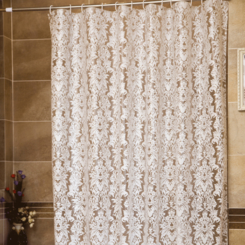 Cortina de baño impermeable para el hogar, cortina de ducha blanca de...