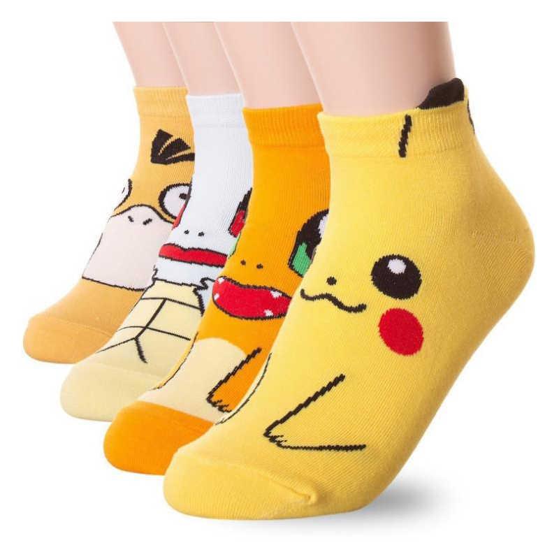 12 stijlen pokemon gaan Cosplay prop accessoires Charmander Psyduck Squirtle Pikachu eevee sokken Gedrukt Cartoon Sokjes