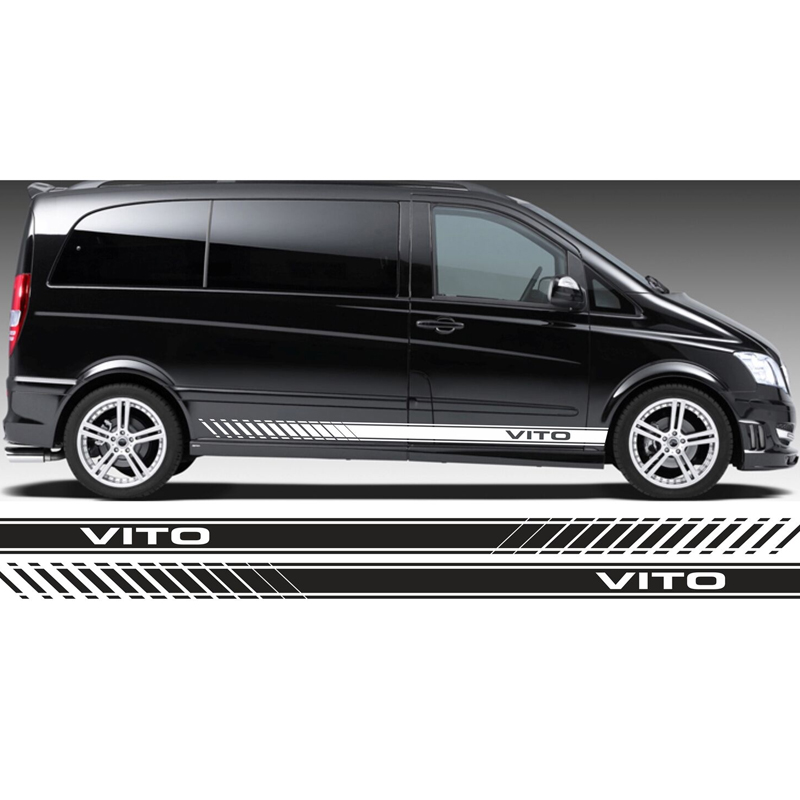 FOR MERCEDES VITO RACING SIDE STRIPES LOGO DECALS STICKERS VINYL GRAPHICS tu-38