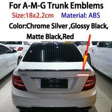Estilo do carro prata/preto 3d emblema tronco emblema adesivo para mercedes amg cls350 cls550 w251 r300 r320 r350 r400 r500 w205 c180l